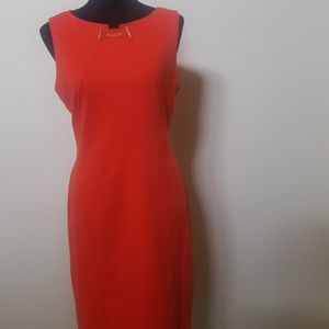 Ivanka Trump Orange Sheath Dress
